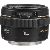 Canon EF 50mm f/1.4 USM Lens (International Model)