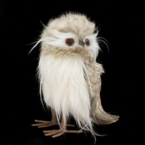 Grey Feather Owl Ornament