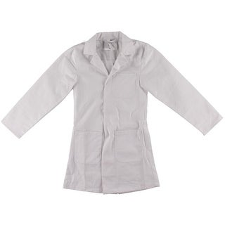 Dr. James Girls Long Sleeves Snap Front Lab Coat - 4-6