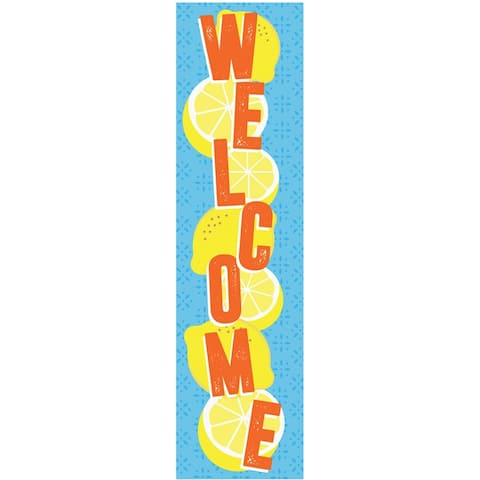 """Always Try Your Zest Welcome Vertical Banner, 12"""" x 45"""" - One Size"""