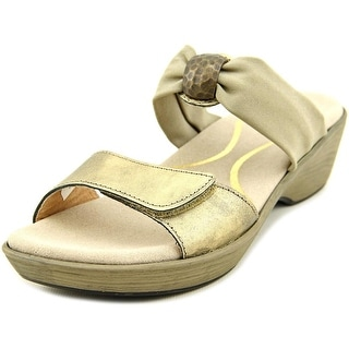Naot Pinotage Open Toe Leather Wedge Sandal
