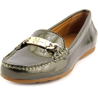 Coach Olive Women Moc Toe Patent Leather Green Loafer