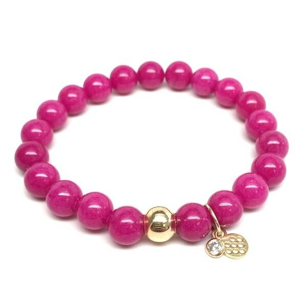 "Fuchsia Jade Zoe 7"" Bracelet"