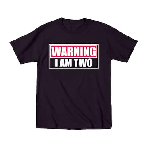 Warning I Am Two Funny Terrible Twos Funny Kids Humor Novelty Toddler T-Shirt