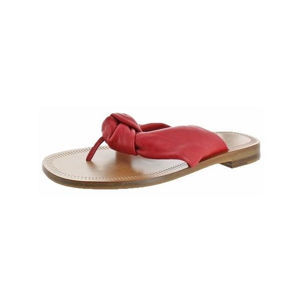 Diane Von Furstenberg Womens Etna Slide Sandals Leather Thong - 6 medium (b,m)