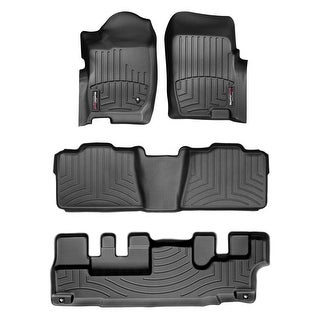 WeatherTech 44043-1-2-3 Black FloorLiner - All Rows: Ford Explorer 2006 - 2010