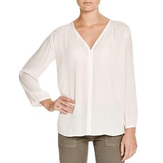 Joie Womens Leyva Blouse Silk Sheer