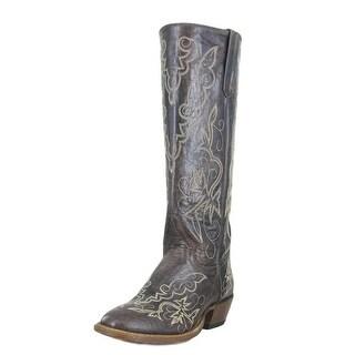 Macie Bean Western Boots Womens Cowboy Tall Floral Brown Raven M5004