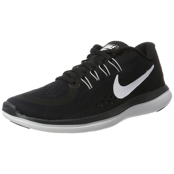 5690561ba5aa Nike Womens Flex 2017 RN Running Shoe Black White Anthracite Wolf Grey