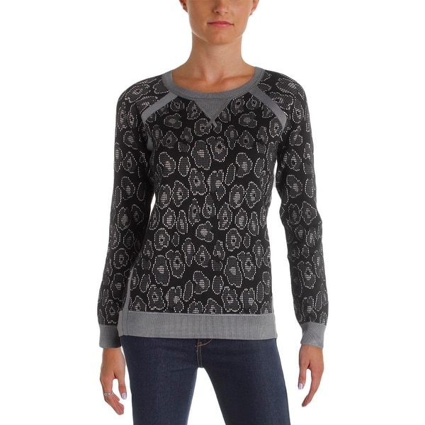 ba76748bcea3 Marc by Marc Jacobs Womens Cassidy Pullover Sweater Jacquard Leopard Print