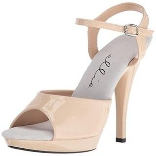 Ellie Womens Juliet Platform Heels Patent Faux Leather - 10 wide (c,d,w)
