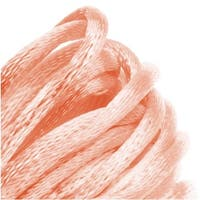 Rayon Satin Rattail 2mm Cord - Knot & Braid - Light Peach (6 Yards)