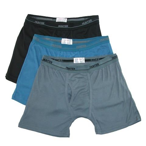 Hunter Men's Boxer Brief Underwear (3 Pair Pack) - Multi