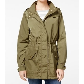 Tommy Hilfiger NEW Green Womens Size Large L Drawstring Hooded Parka