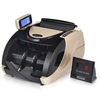 Bill Counter Money Cash Currency Counter Automatic Machine Counterfeit Bill Detector UV MG - as pic