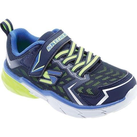 268f0177885bb3 Skechers Boys  Thermoflux Nano Grid Sneaker Navy Lime