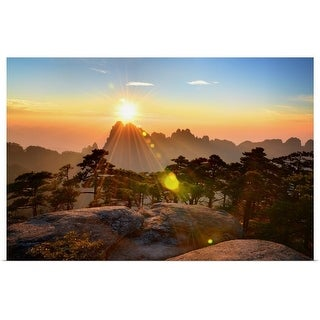 """""""Huangshan mountain range, Anhui, China."""" Poster Print"""