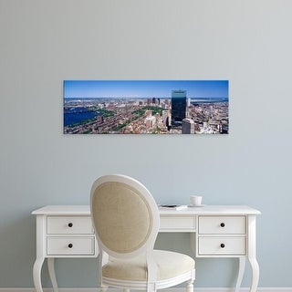 Easy Art Prints Panoramic Images's 'View of buildings in a city, Boston, Cambridge, Massachusetts' Premium Canvas Art