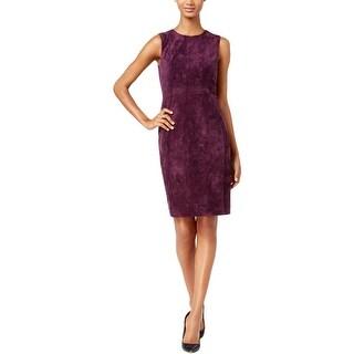 Calvin Klein Womens Wear to Work Dress Suede Sleeveless