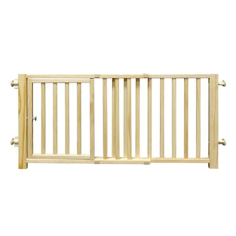 Four Paws Smart Design Walkover Pressure Mounted Gate with Door