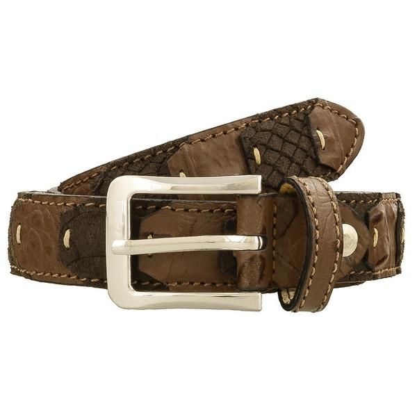 Renato Balestra LEO MARRONE Brown Leather Mens Belt-38.5in - 38.5