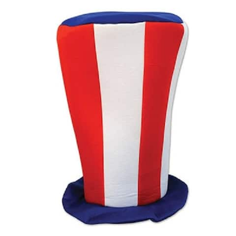 """Club Pack of 12 Fourth of July Patriotic Tall Party Top Hats 16"""""""