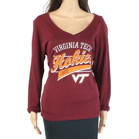 Champion Women's Top Burgundy Red Size XL Knit College Virginia Tech