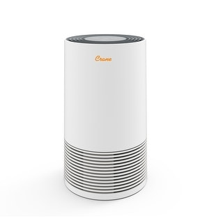 Crane Tower Air Purifier with True HEPA Filter, 3 Speed Control