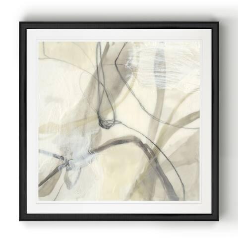 Flowing Neutrals II -Black Framed Print