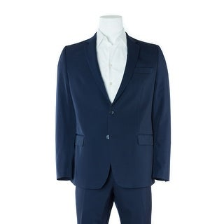 Versace Collection Men's Solid Navy Two Button Suit - 44