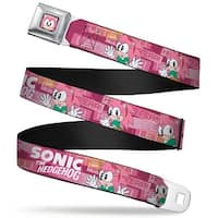 Sonic Classic Amy Face Close Up Full Color Black Sonic The Hedgehog Amy Seatbelt Belt