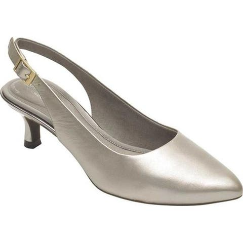 Rockport Women's Total Motion Kaiya Slingback Dove Pearl Leather
