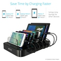 Skiva StandCharger (7-Port / 84W / 16.8A) Desktop USB Fast Charging Station Dock with '7 units of Short (0.5ft) microUSB Cables' - Thumbnail 2