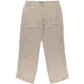 Nic + Zoe Womens Linen Wide Leg Casual Pants