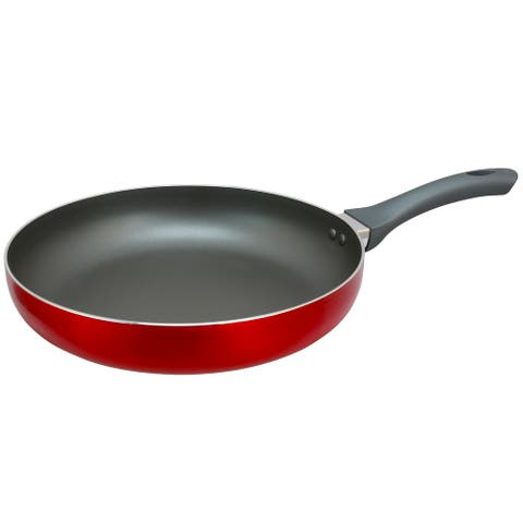 Oster Herscher 12 Inch Frying Pan in Translucent Red