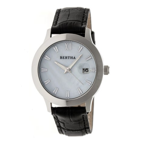 Bertha Eden Women's Quartz Watch, Genuine Leather Band, Luminous Hands