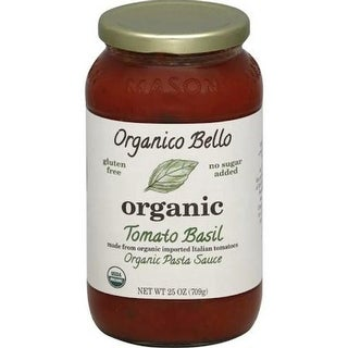 Organico Bello - Organic Tomato Basil Sauce ( 6 - 25 oz jars)