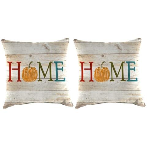 """16"""" Set of Toss Pillows in Pumpkin Home - 16x16x4"""