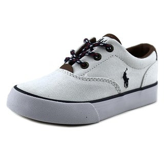 Polo Ralph Lauren Vaughn II Youth Round Toe Canvas White Sneakers