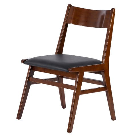 Norman PU Leather Bamboo Chair