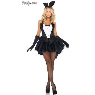 Tux And Tails Bunny Costume, Tuxedo Bunny Costume - Black/White