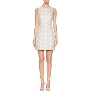 MICHAEL Michael Kors Womens Casual Dress Linen Blend Embroidered