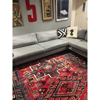 Safavieh Vintage Hamadan Jasmin Traditional Red/ Multi Rug - 9' x 12'