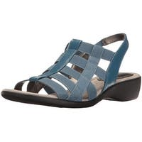 LifeStride Womens Theory Open Toe Casual Slingback Sandals