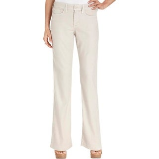 NYDJ Womens Petites Casual Pants Linen Tencel Blend