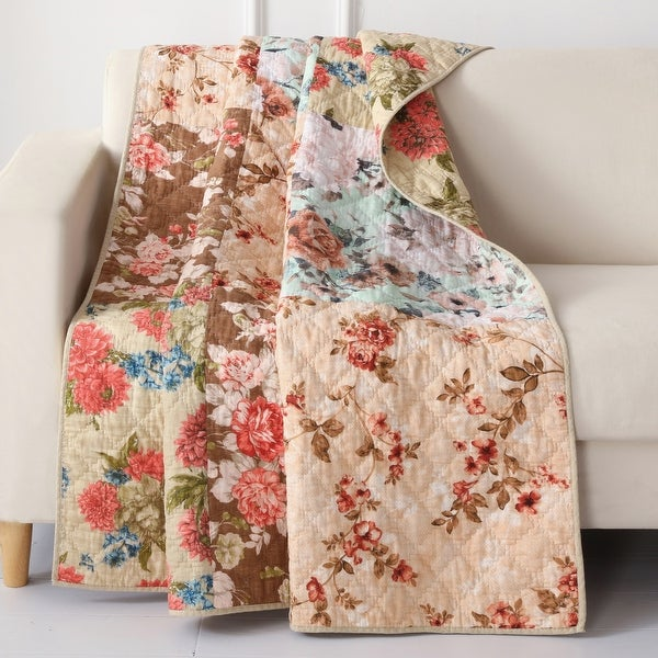 Greenland Home Fashions Briar Authentic Patchwork Throw Quilt. Opens flyout.