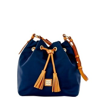 Dooney & Bourke Windham Small Kade Drawstring (Introduced by Dooney & Bourke at $198 in Jan 2016) - Navy