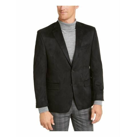 RALPH LAUREN Mens Black Long Sleeve Collared Button Down Sweater 38R