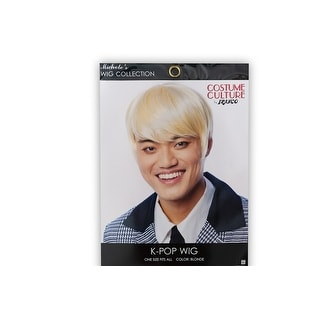 K-Pop Adult Costume Wig   Cosplay, Costume, & Leisure Wig   Blonde Hair Color - Yellow