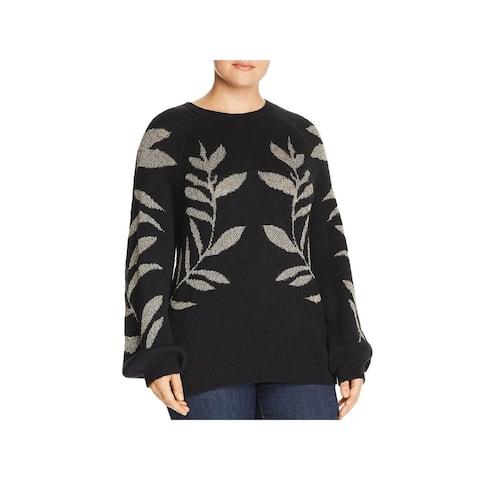 Lucky Brand Womens Plus Sweater Metallic Long Sleeves